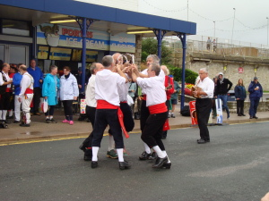 Sword dancing at Swanage Folk Festival